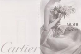 CARTIER - Must II - FEMME, BOUQUET, FLEUR, SEXY - Carte Double 11 X 15 Cm TBon Etat (voir Scan) - Modern (from 1961)