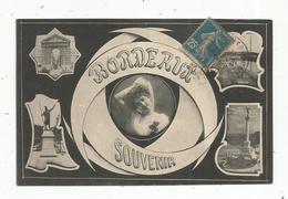 Cp, 33 , BORDEAUX , Souvenir , Multi Vues , Voyagée 1920 - Bordeaux