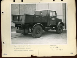 Original Photograph - Tipper Body On Bedford Ex R.A.F. Chassis - 1949  (21 X 15.5cm) - Autres