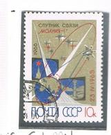 """URSS -   SG  3286   - 1966    SATELLITE FOR TELECOMMUNICATIONS """"MOLNIYA I""""          -  USED°  - RIF. CP - 1923-1991 USSR"""