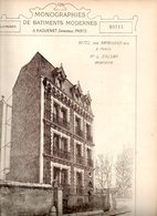 Monographies De Batiments Modernes N° 83 : Hôtel 5 R Raynouard 75016 Paris - Architecture