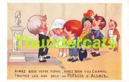 CPA ILLUSTRATEUR RIGHT SELS DE POTASSE D'ALSACE MULHOUSE ENFANT ARTIST SIGNED - Right