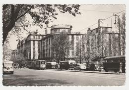 Hongrie Budapest N°139/574 Tanacs Körut Avenue Of City Hall Tram Tramway BUS Autocar Car Anciens En 1958 VOIR TIMBRE - Ungarn