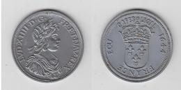 LOUIS XIV - ECU 1664 - CAFE LEGAL - PLASTIQUE - 987-1789 Royal