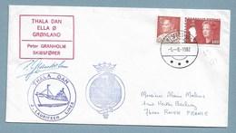 2 - GROENLAND - Le THALA DAN à MESTERS VIG 5.8.1982. Signature Peter GRANHOLM. - Franse Zuidelijke En Antarctische Gebieden (TAAF)
