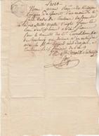 5 Frimaire An 9 Manuscrit Quittance Lavigne Gimont  Espiard Toulouse - Cachet Fiscal Gers - Filigrane REP FRA AN 7 ? - Manuscrits