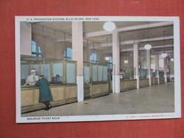 New York > New York City > Ellis Island            Railroad Ticket Room       Ref 3756 - Ellis Island