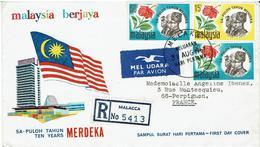 D - LETTRE MALAISIE - MALACCA / PERPIGNAN - Voir Descriptif - - Maleisië (1964-...)