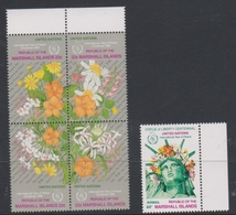 Marshall Islands 94-98 1986 International Year Of Peace, Flowers, Mint Never Hinged - Unclassified