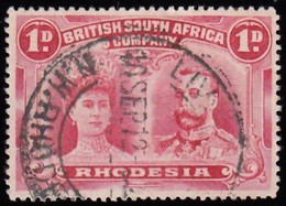 RHODESIA British South Africa Company - Scott #102b Queen Mary & King George V / Used Stamp - Great Britain (former Colonies & Protectorates)