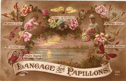 """LANGAGE DES PAPILLONS """" VOEUX DE BONHEUR , PORTE BONHEUR ... """" - Phantasie"""