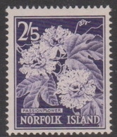 Norfolk Island ASC 38 1960 Flora And Fauna 2sh,5d Passion Flower, Mint Never Hinged - Unclassified