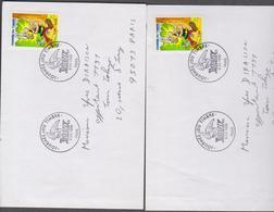 FRANCE 2 Enveloppes Premier Jour Postées Journée Du Timbre 1999 - Asterix N°YT 3225-3226  6 03 1999 - Día Del Sello