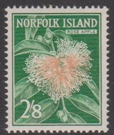 Norfolk Island ASC 39 1960 Flora And Fauna 2sh,8d Rose Apple, Mint Never Hinged - Unclassified