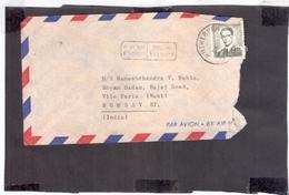 BELGUIM 1961 AIR MAIL TO INDIA ANTWERPEN COVER ADVERTISEMENT 3995 CANCELLATION - Belgium