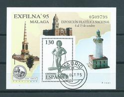 1995 Spain Complete M/Sheet Exfilna'95 Used/gebruikt/oblitere - Blocks & Sheetlets & Panes