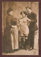 CP - JEUNES FEMMES  Trio SEINS NUS - EDITION MICHEL +Co - FOTOGRAPHIC COLLECTION - Nudi Adulti (< 1960)