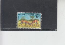 UGANDA  TANZANIA  KENIA  1972 - Fauna - Gazzzelle - Francobolli