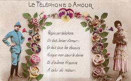 CARTE LA FAVORITE . LE TELEPHONE D'AMOUR  ECRITE EN 1917 - Phantasie