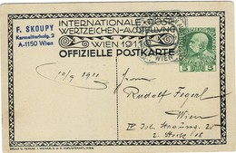 1911, Privat-Sonder-GSK 5 H. , So.-Stp. ,    A2709 - 1850-1918 Empire