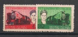 North Vietnam - 1965 - N°Yv. 415 à 416 - Train - Neuf Luxe ** / MNH / Postfrisch - Viêt-Nam