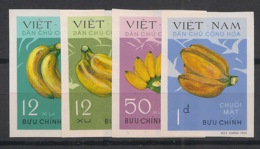North Vietnam - 1970 - N°Yv. 686 à 689 - Bananes / Fruits - Non Dentelé / Imperf. - Neuf Luxe ** / MNH / Postfrisch - Vietnam