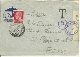 AZ23-Lettera A Militare Con 20 Cent. Imperiale 18.03.1944 - Tassata - Diretta A Posta Da Campo 733 - Bella - 4. 1944-45 Repubblica Sociale