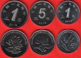 China Set Of 3 Coins: 1 Jiao - 1 Yuan 2019 UNC - China