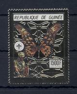 GUINEA* 1990 * Stamp GOLD * MNH** Butterlies - Scouts - Mi.No 1287 - Guinée (1958-...)