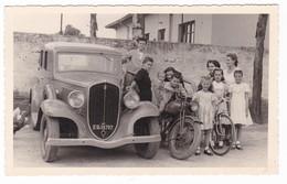 "AUTOMOBILE - FIAT ""508"" - AUTO - MOTOCICLETTA - MOTO - FOTOGRAFIA ORIGINALE 1952 - Automobiles"