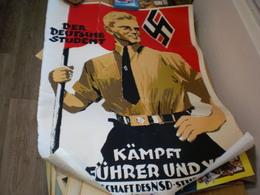 Old Poster Nazy Der Deutsche Srudent Kampfr Fur Fuhrer Und Volk Inder Mannschaft Des N S D Studentenbundes 52.5x70 Cm - 1939-45