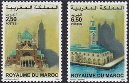 MAROC, 2001, Edifices Religieux (Yvert 1282-1283). - Maroc (1956-...)