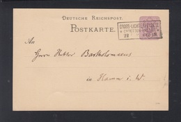 Dt. Reich GSK 1887 Gross-Lichterfelde Cadetten-Anstalt - Covers & Documents