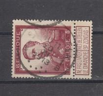 COB 122 Oblitération Centrale SCHAERBEEK 1B - 1912 Pellens