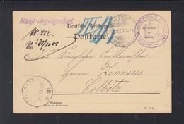 Dt. Reich Kgl. Preuss. Hof-Jagd-Amt PK 1901 Zehlendorf - Covers & Documents