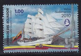 Ecuador 2010, Ship, $1 Vfu - Ecuador