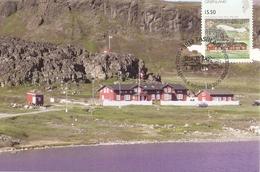 Groenland 2004 - Petit Lot De 2 Cartes Max 1er Jour -  Ukioq Arctic Station - Cape Copenhagen - SC  482 /484 - Cartes-Maximum (CM)