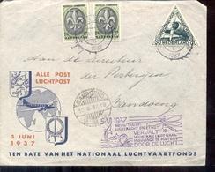 Luchtpost - Jamboree Nederlands Indië 1937 DC3 - Den Helder - Poststempels/ Marcofilie