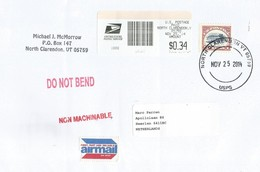 USA 2014 North Clarendon Airplane Inverted $2 Meter Cover - Cartas