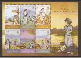 Alderney 2013 - The Life Of Beatrix Potter - Bloc Souvenir De 6 Timbres  MNH - SC 476a - Alderney