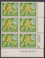 Rhodesia 410 1968 Dual Currency Issue,15c-1sh6p, Mint Never Hinged Block 6 - Unclassified