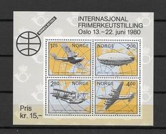 1979 MNH Norway, Mi Block 2 - Zeppelins