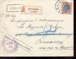 Rotterdam - Aangetekend - Brussel - 16.11.15 - Censuur - Postal History