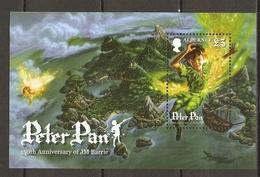 Alderney 2010 - Peter Pan - JM Barrie - Bloc MNH - SC 389 - Alderney