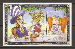 Alderney 2015 - Alice Aux Pays Des Merveilles - Alice's Adventures In Wonderland - Bloc MNH - SC 518 - Alderney