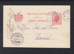 Romania Stationery 1905 Iasi To Zürich - Ganzsachen