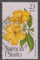 Samoa S 563 1981 Christmas Flower,23s Yellow Allamanda, Used - Unclassified