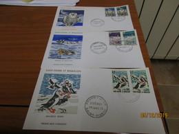 3 Enveloppes 1er Jour Saint-Pierre Et Miquelon Oiseaux 1973 - St.Pierre Et Miquelon