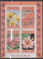 Tanzania 474-77 Flowers Miniature Sheet, Mint Never Hinged - Unclassified