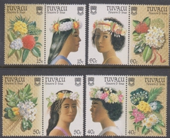Tuvalu 476-83 1987 Flowers And Fous, Mint Never Hinged - Unclassified